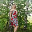 возле березки в платье