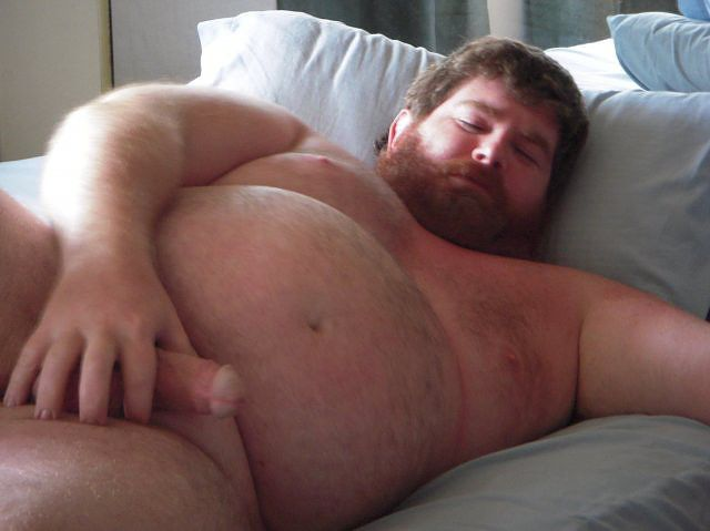 Chubby Dark Haired Guy Naked